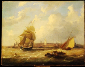 John Wilson Carmichael: Two Ships in Harbour