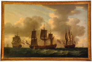 John Cleveley The Elder: Three Views of the Frigate H.M.S. Pallas