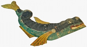 Carved Sea Serpent Plaque