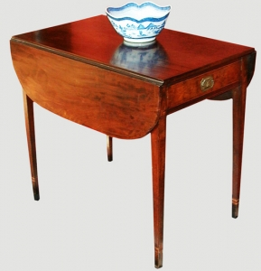 A Fine Federal Inlaid Mahogany Pembroke Table Attributed to Michael Allison, New York City, Circa 1800