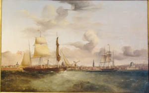 "William K. McMinn: The Barque ""Orkney Lass"" in Liverpool Harbour"
