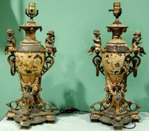 Pair of Greek Revival Style Lamps