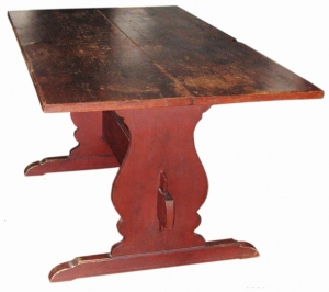 18th C. Style Pine Trestle Table
