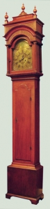 George Crow Queen Anne Walnut Tall Case Clock