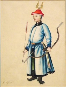 Chinese Watercolor:  An Officer