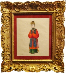 Framed Chinese Watercolor:  A Princess