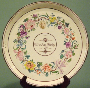 Extremely Rare Wedding Plate