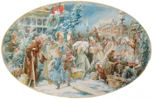 "Everett Shinn:  ""A Christmas Scene"""