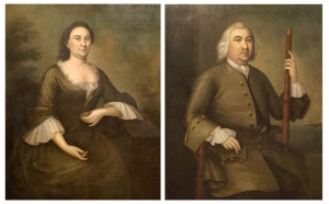 Joseph Badger Portraits: Andrew Sigourney and his wife Mary Ronchon