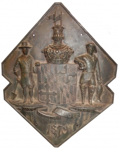 Iron Casting of the Seal of the State of Maryland, 19th C.