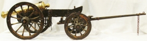 Miniature Field Cannon with Caisson