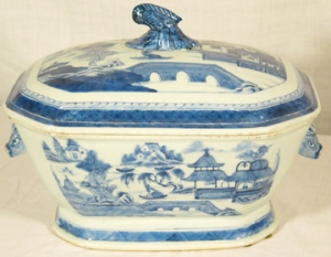 Canton Boar's Head Tureen