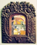 New England Carved Wooden Mirror