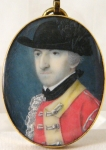 John Hill, RA: Miniature portrait of a British Army Officer