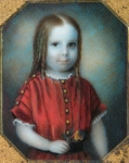 Clarissa Peters:  Miniature Portrait of a Young Girl