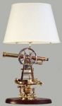 Brass Surveyors Instrument Mounted as Lamp