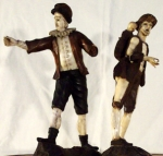Italian Wood and Ivory Figures