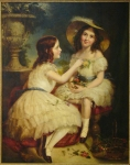 Kenneth Macleay, RSA: Portrait of Lady Constance Grovenor and Lady Agnetta Yorke